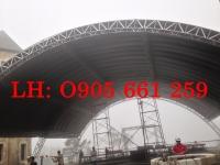 Thi công mái vòm tại Bà Nà Hills - Đà Nẵng